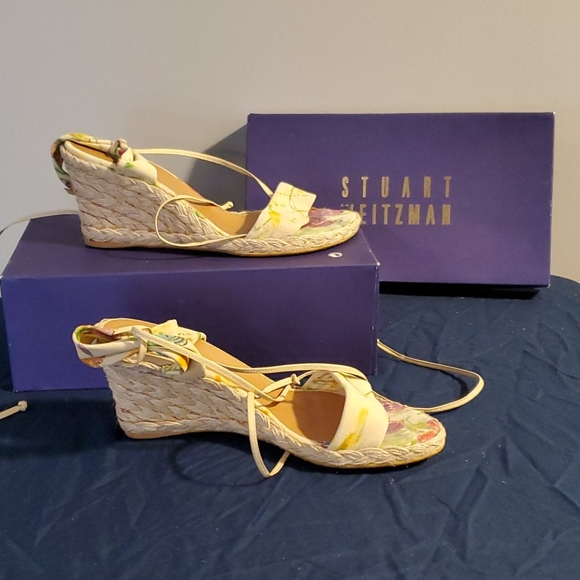 Stuart Weitzman Wedge Sandals size 8